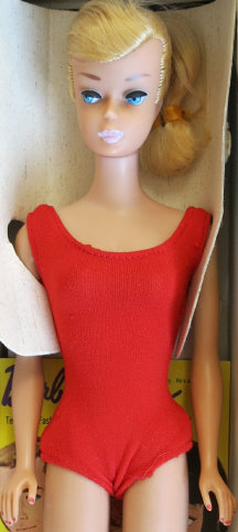 Platinum Swirl Pontail Barbie from 1964 with slight oxidized hair