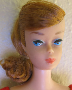 Titian Swirl Ponytail Barbie head shot
